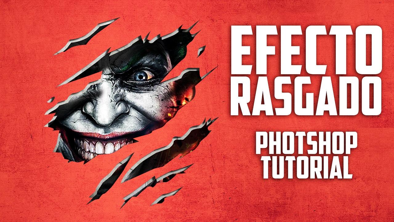Como Hacer Efecto de Rasgado en PHOTOSHOP CS6 TUTORIAL