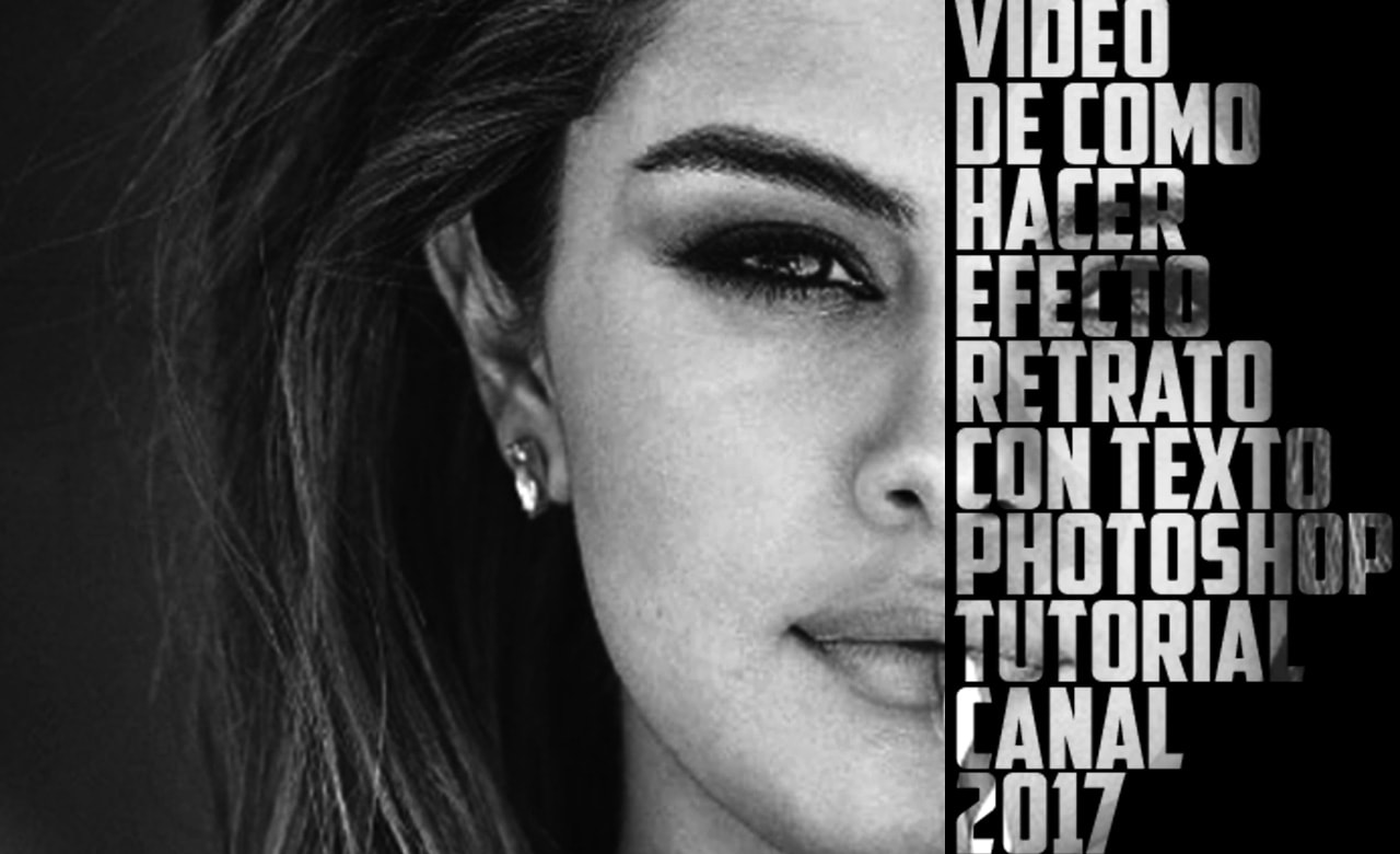 PHOTOSHOP TUTORIAL | EFECTO TEXTO EN ROSTRO