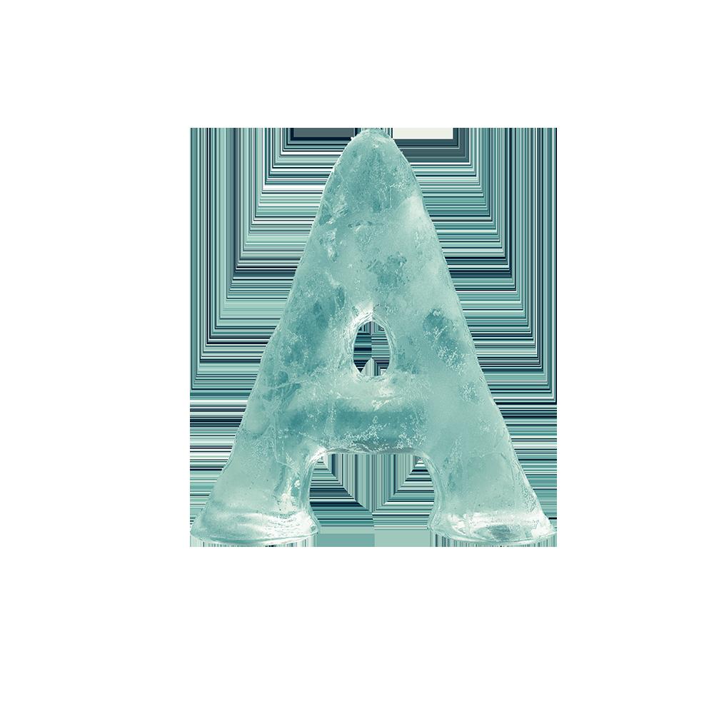 alfabeto completo en hielo