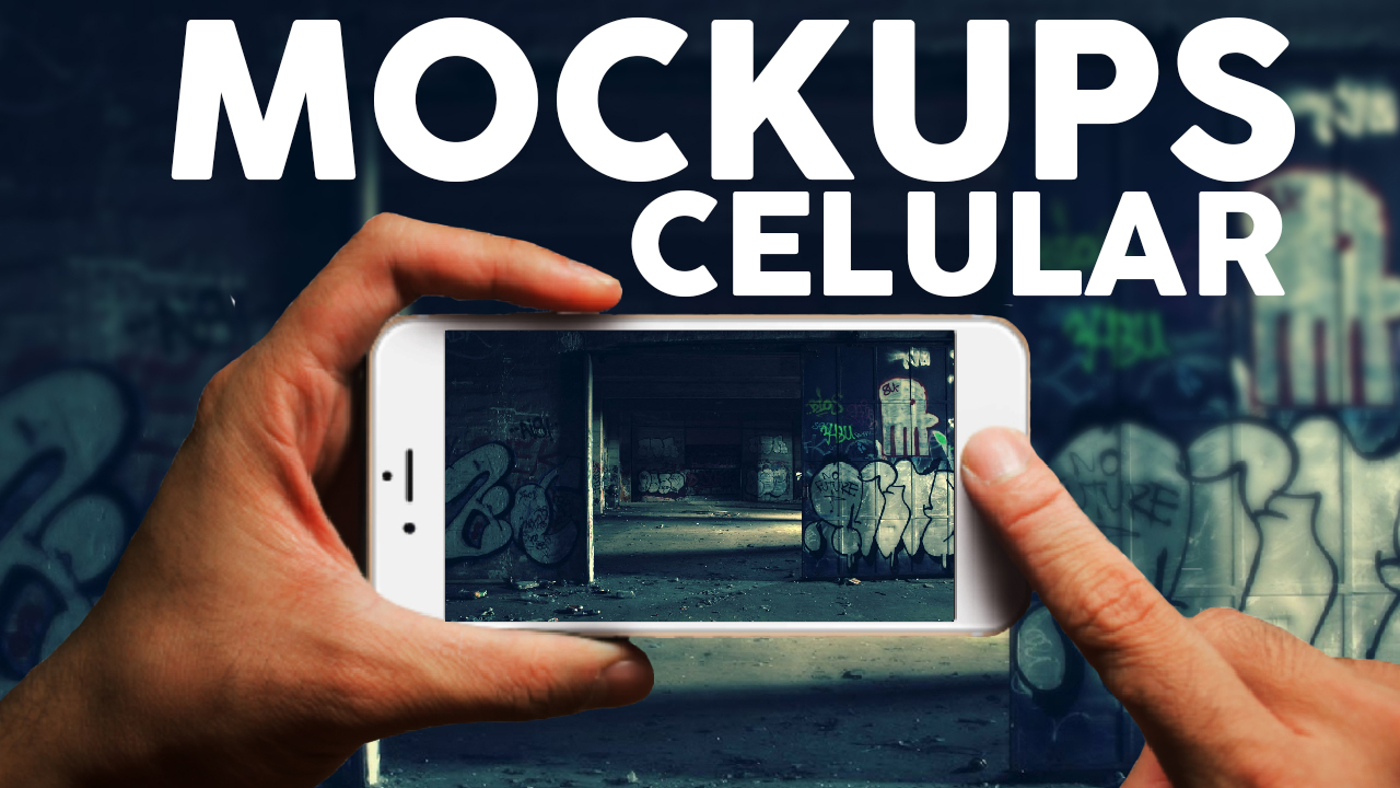 Mockups de Celular con camara en Photoshop Gratis