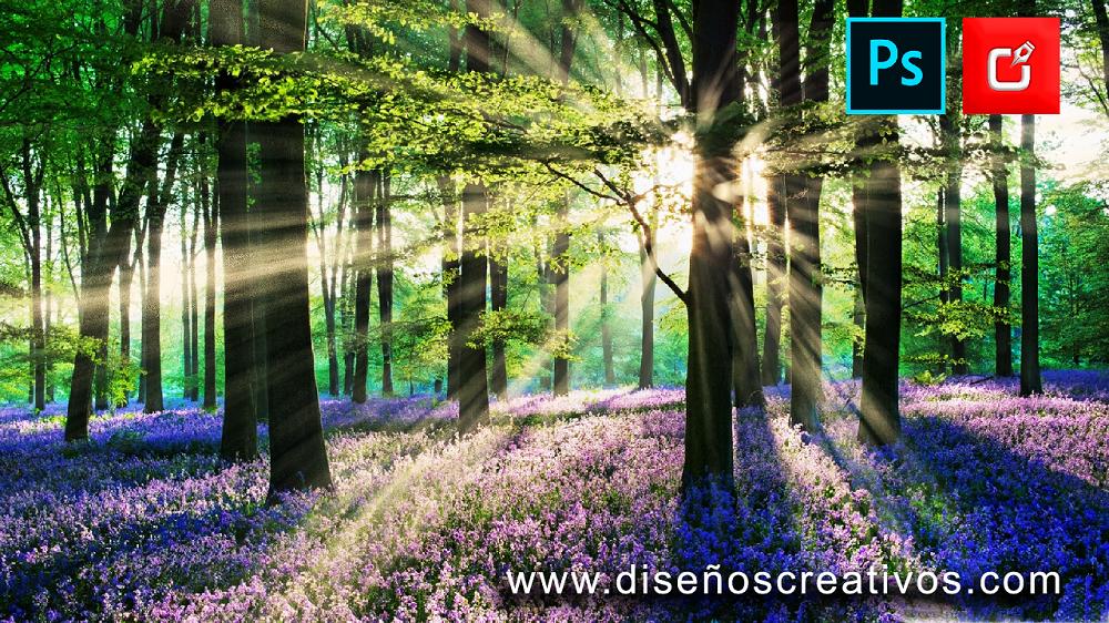 efecto de rayo de luz en imagenes con photoshop