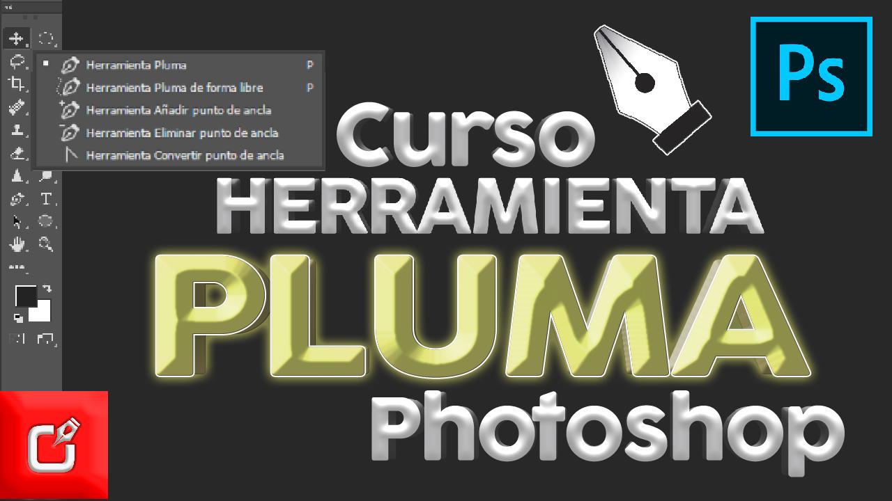 tutorial herramienta pluma de photoshop
