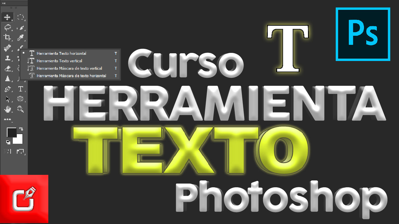 tutorial herramienta de texto de photoshop