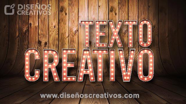 descarga texto 3d con luces diseños creativos