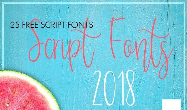 25 Tipografías Script para descargar