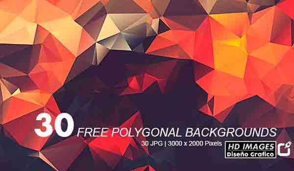 Pack de 30 Texturas Poligonales en HD Gratis